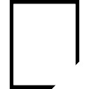 Rectangle line without a corner