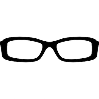 Rectangular eyeglass frame