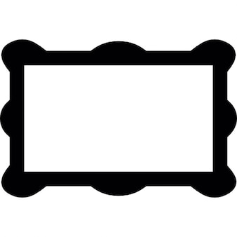 Rectangular frame with rounded corners