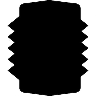 Rectangular shield with jagged sides