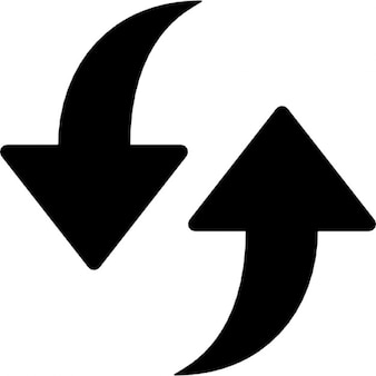 Refresh. two arrows point to up and down