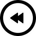 巻き戻し円形ボタン