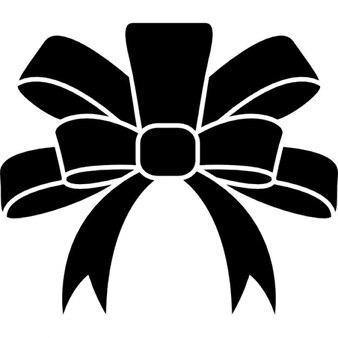 Ribbon black elegant shape for a xmas gift