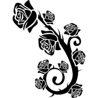 Roses branch ornament