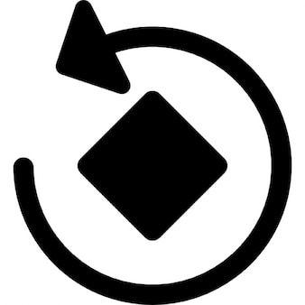 Rotate circular arrow around a rotated square