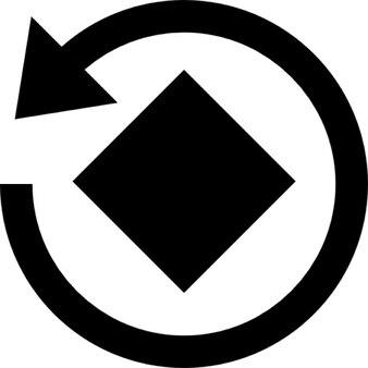 Rotate image instagram tool interface symbol