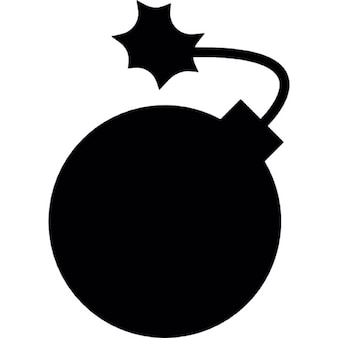 Round bomb in black