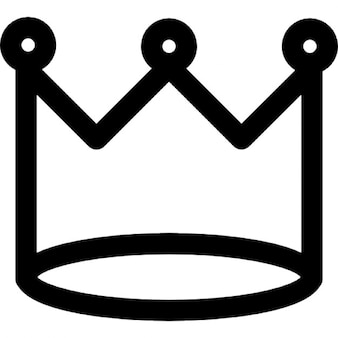Royal crown of basic simple design