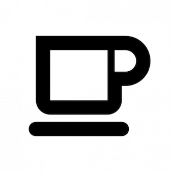 Schematic cup of coffee