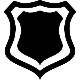 Shield badge with outline