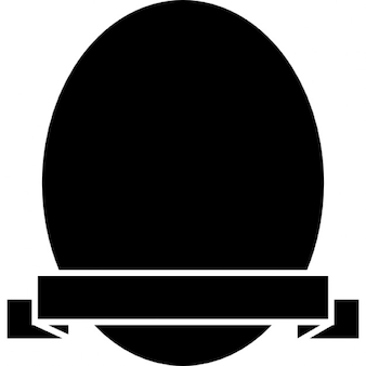 Shield of oval shape with a banner