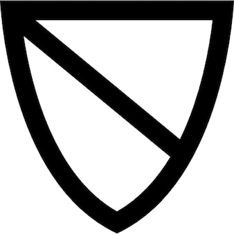 Shield outline divided into two