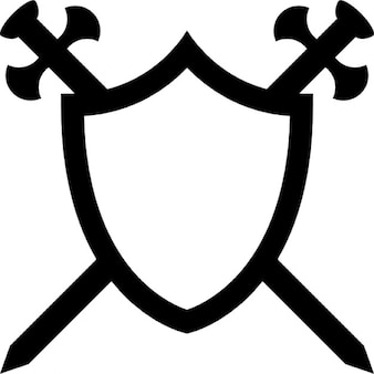 Shield with two swords in cross