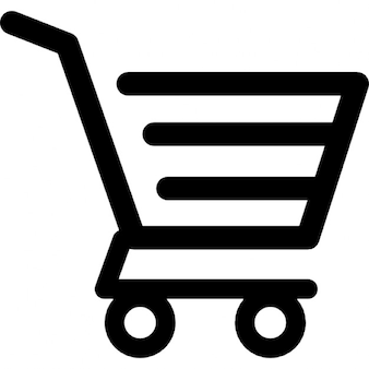 Shopping cart of horizontal lines design