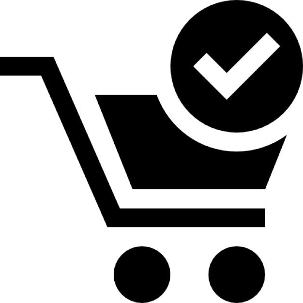 Shopping cart verified symbol