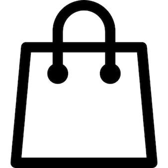 Shopping paper bag outline