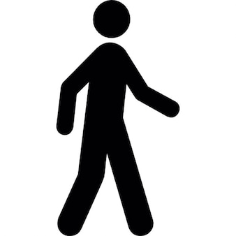 Silhouette of a man walking