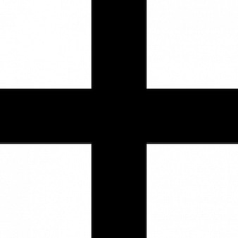 Simple black cross vector