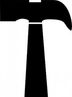 Simple black hammer vector