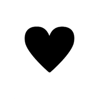 Simple black heart silhouette
