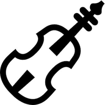 Simple black and white violin Free Icon