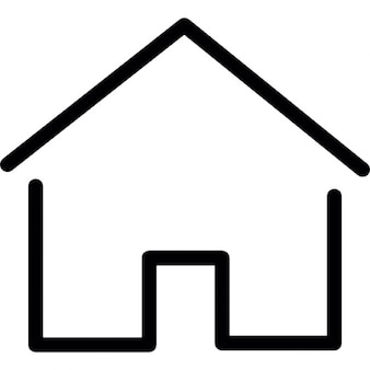Simple house thin outline