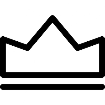Simple royal crown