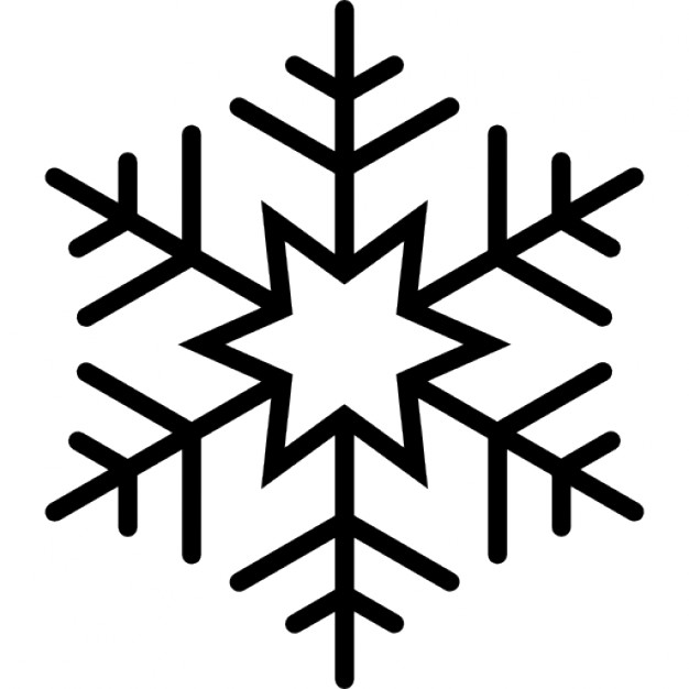 Six pointed star snowflake