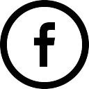 Social facebook circular button