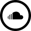 Social soundcloud circular button