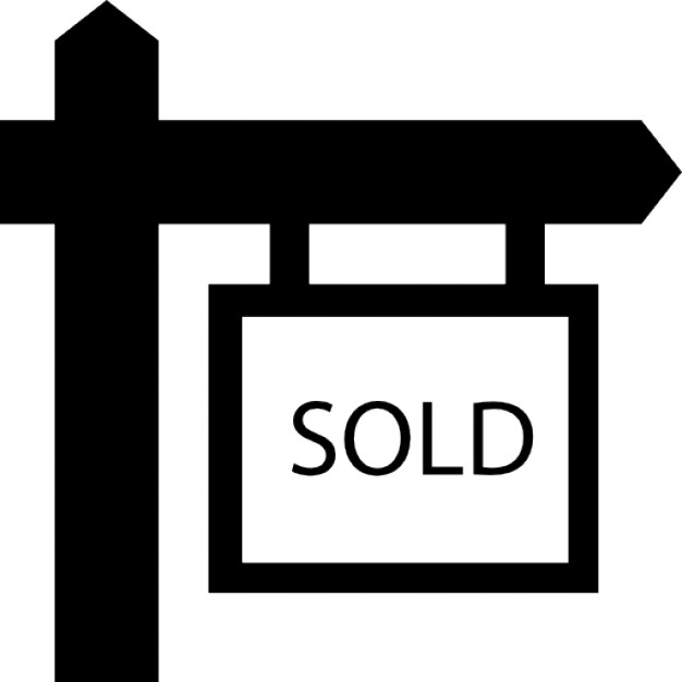 Sold real estate hanging signal