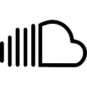 Soundcloud social outlined logotype symbol