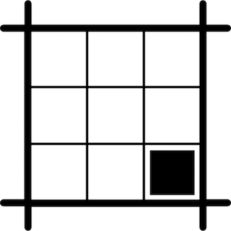 Square layout with black square on southeast area