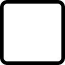 Square rounded empty outlined button shape