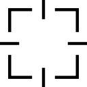 正方形のターゲット·インタフェース·シンボル