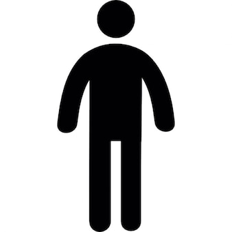 Standing frontal man silhouette