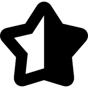 半分黒と白の半分を持つ星型のシンボル