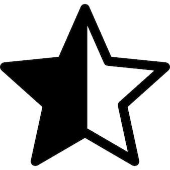 半分で星形