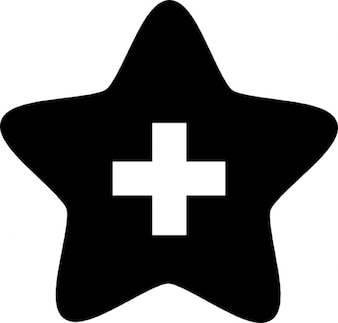 Star with a cross inside