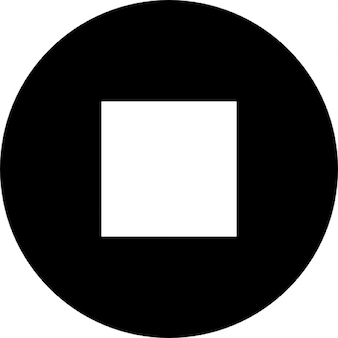 Stop square symbol in a circle