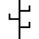 Straight lines shape like a cactus or a hanging tool