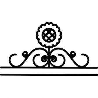 Sunflower design with vines border
