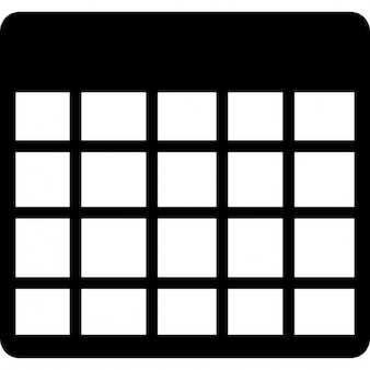 Table blank grid