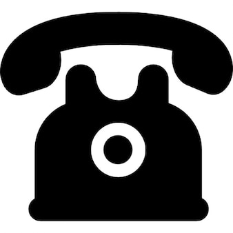 Telephone of black vintage design