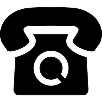 Telephone of vintage style and black shape