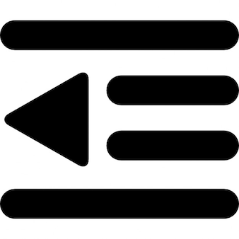 Text side option interface symbol