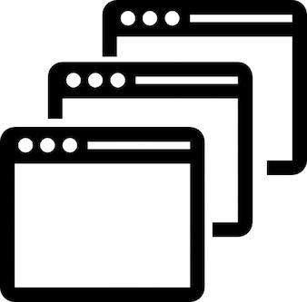 Three application windows