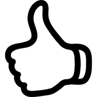 Thumb up outline symbol