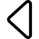 Triangle left arrow outline