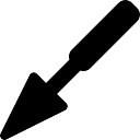 Triangular shovel